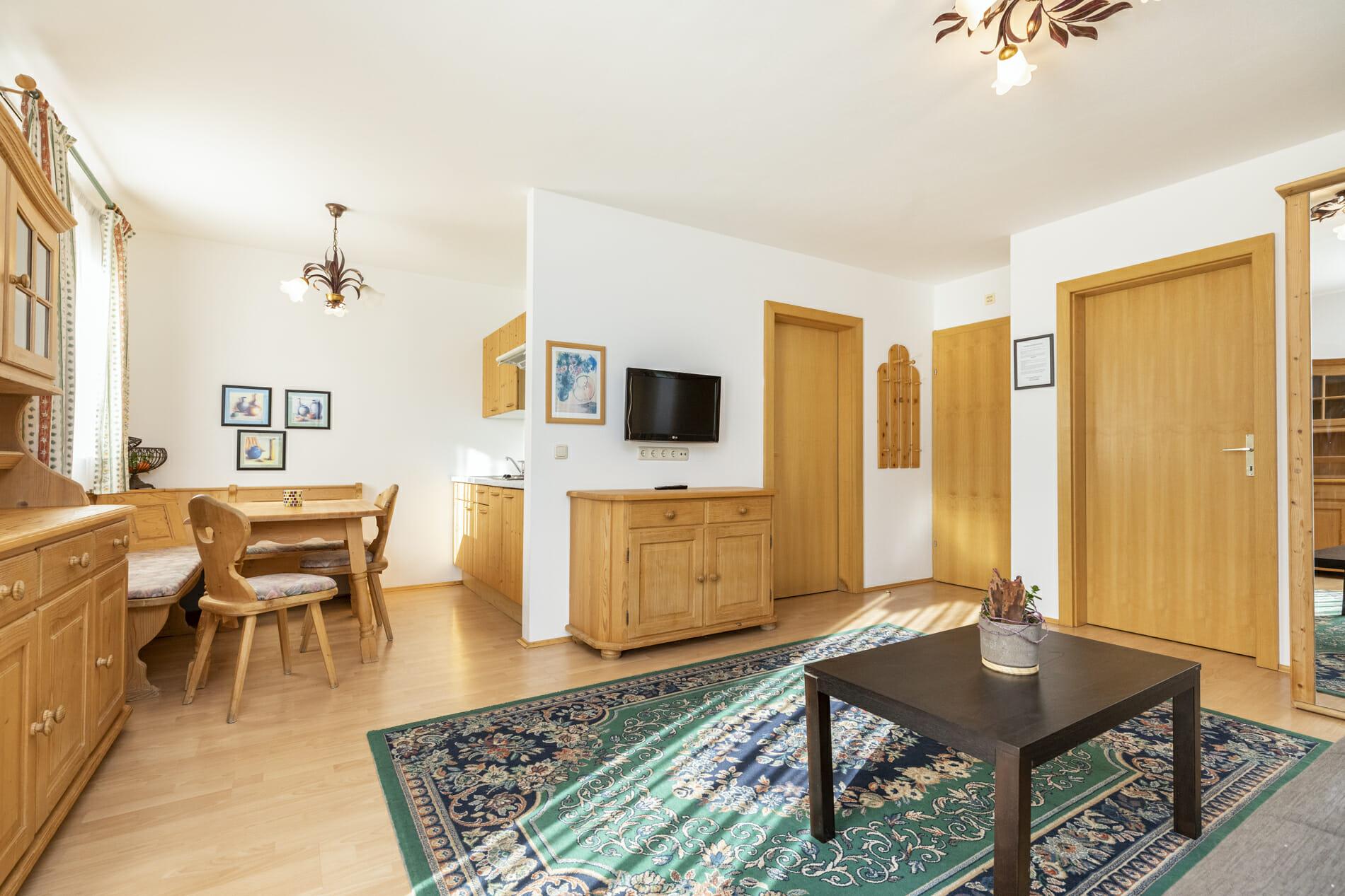 Wohnbereich der Appartements in Flachau