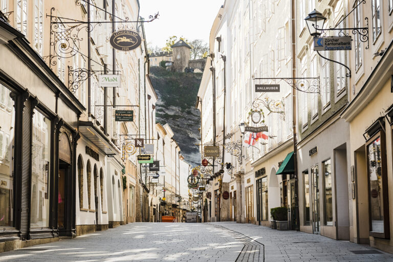 Getreidegasse in the old town of Salzburg