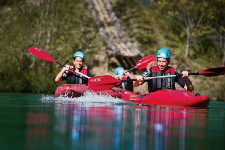 Kajak im Sommerurlaub in Flachau