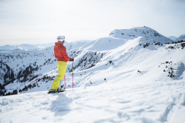 Skiing in the Salzburg Alps