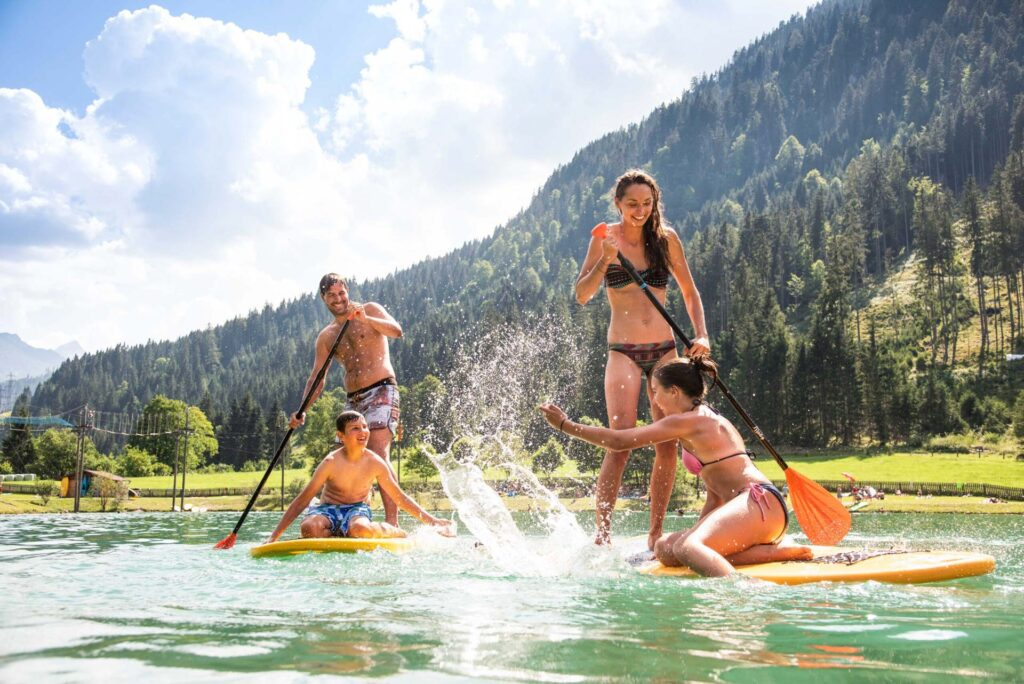 Stand-Up-Paddling (SUP) in Flachau
