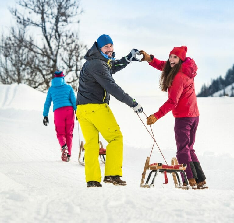 Winter-Rodeln in Flachau